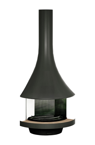 Caleo Ltd Designer Fireplaces Bordelet Eva 992 Corner Fireplace with Glass Enclosure