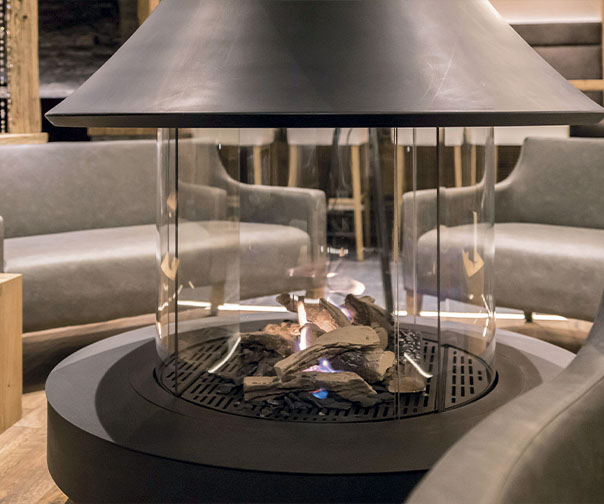 Suspended Fireplaces and Central Fireplaces