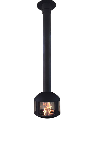 Hanging Fireplaces, Suspended & Hanging Fireplaces, Caleo Ltd | Designer Floating Fireplace | Hanging Fireplace | Central Fireplace